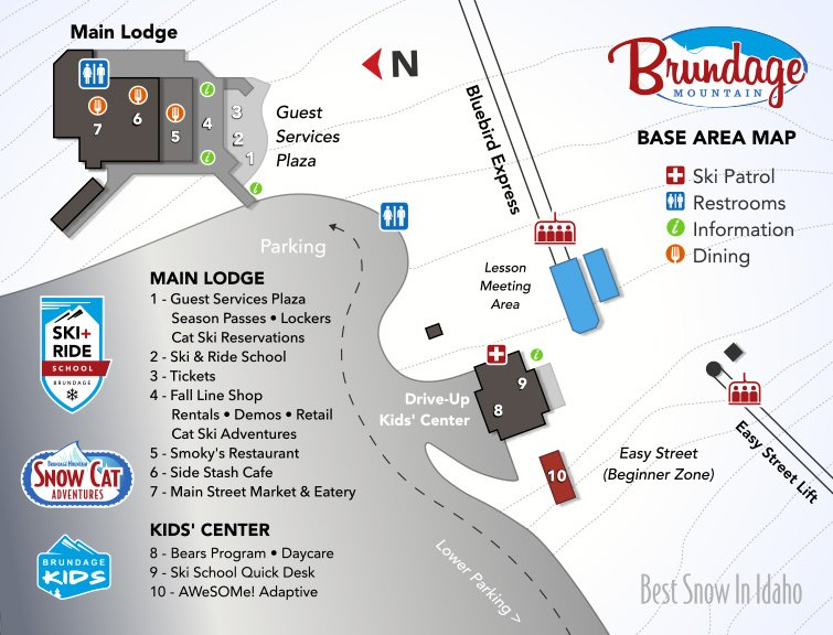 Brundage Mountain Base Area Map