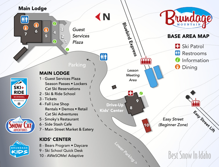 Brundage Mountain Base Area Map