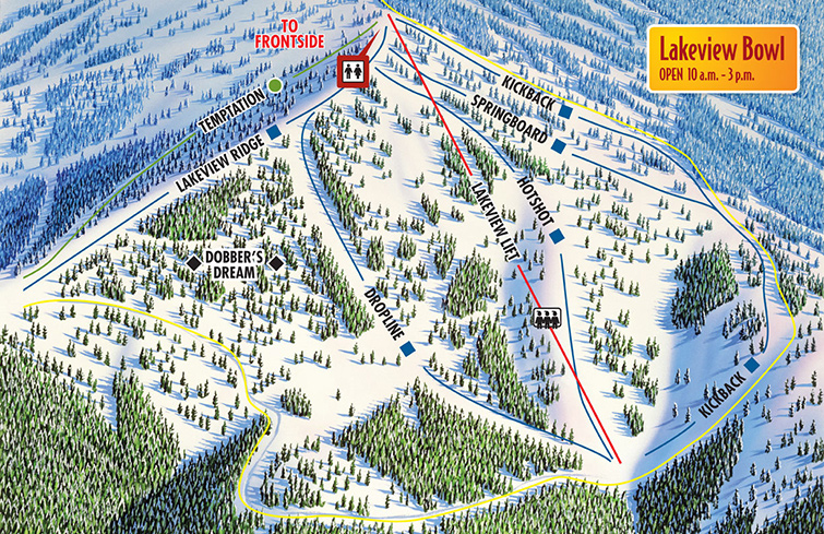 Brundage Mountain Lakeview Bowl Trail Map