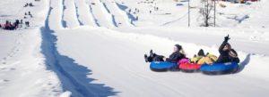 snowtubing at the Activity Barn