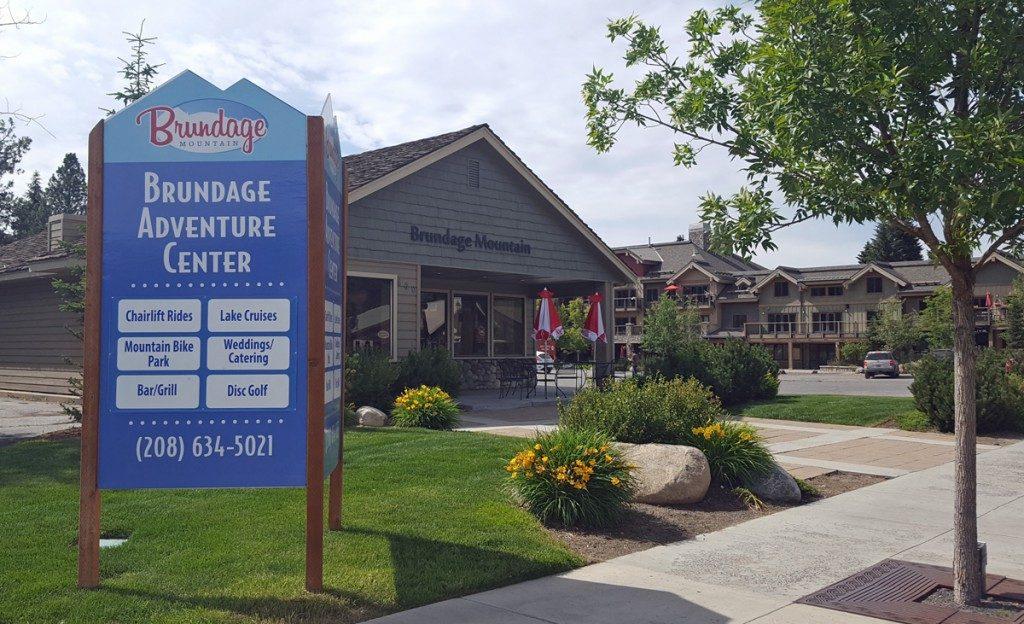 Brundage Adventure Center Building photographed in summer