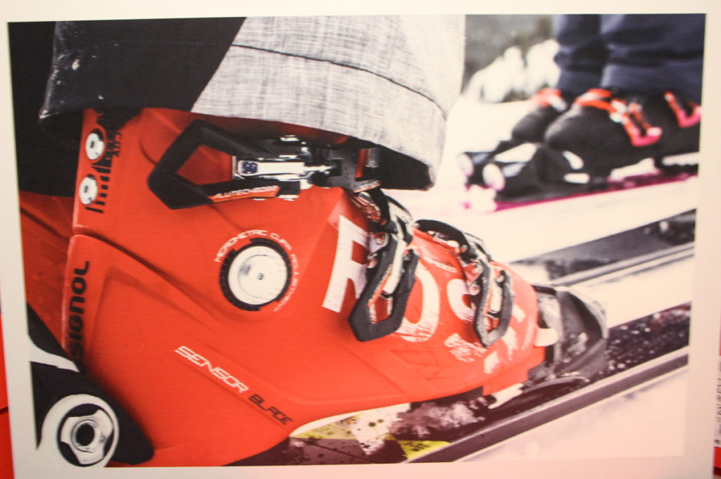 red rossignol boot