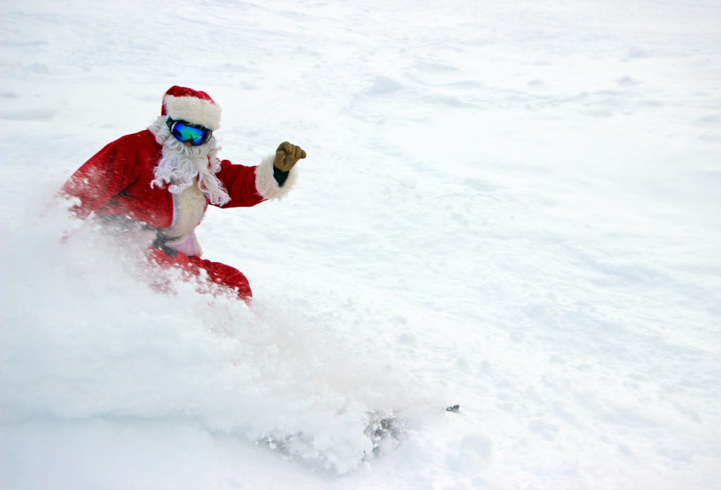 santa in powder