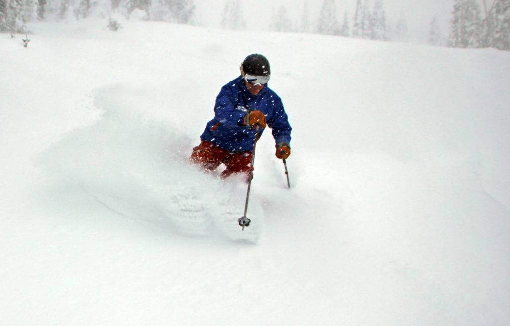 knee deep powder