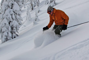 backside powder ski