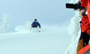 powder ski video