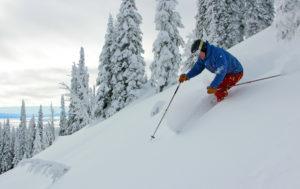steep untracked powder