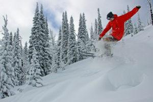 skier catches air