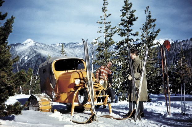 Vintage Snow Cat Viewing Brundage Mountain Resort