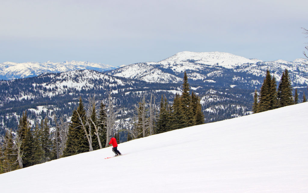 Main street skier and Granite Mountain