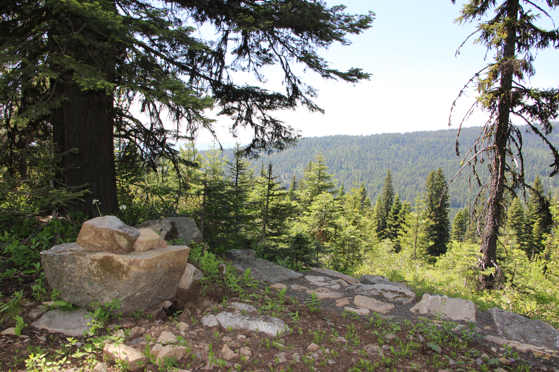 Hiking at Brundage Mountain
