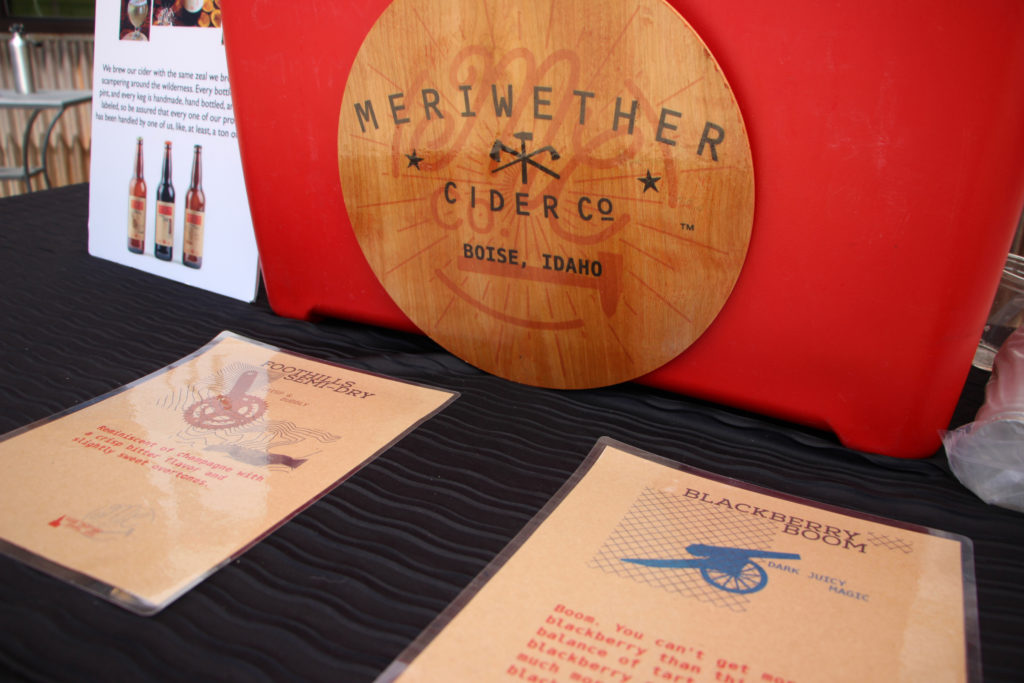 Meriwether Cider Company booth
