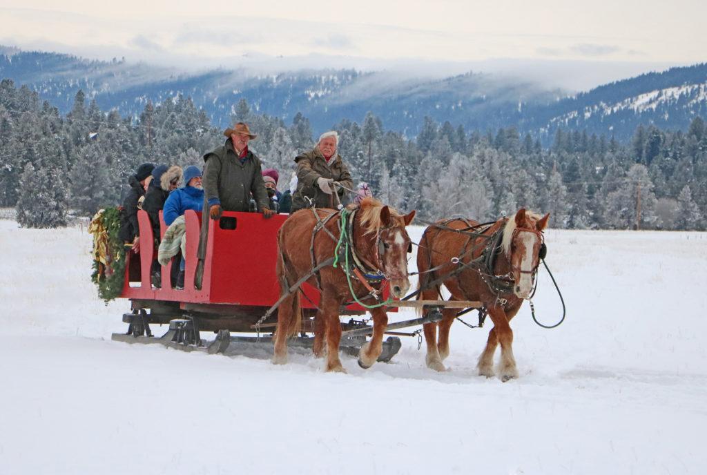 sleigh rides brundage mountain resort