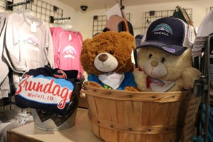 Stuffed animals at downtown shop
