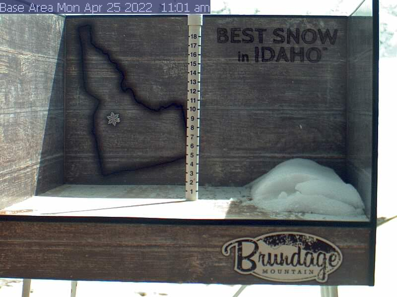 Brundage Mountain Snowfall Webcam - McCall, ID